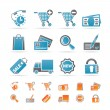 Internet icons for online shop - Stockvectorbeeld