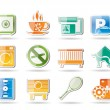 Hotel and motel amenity icons — Stock Vector #5178875