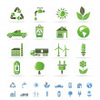 Ecology and environment icons - ベクター素材ストック