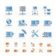 Network, Server and Hosting icons - Stock Vector