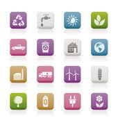 Ecologie en milieu pictogrammen — Stockvector