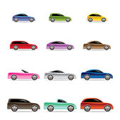 Different types of cars icons — Stock Vector