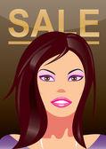 Módní nákupní dívky v časopisu titulní stránku — Stock vektor