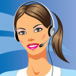 Beautiful young woman with headphones — Stock Vector #5180377