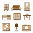 Home and office furniture — Stock Vector