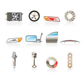 Realistic Car Parts and Services icons — Stock Vector