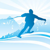 Ski and sport Background — Stock Vector