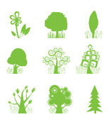 Abstract Tree Collection icon — Stock Vector
