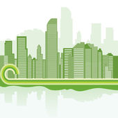 Green city background - Jakarta — Stock Vector