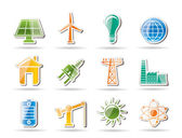 Power, energy and electricity objects — Stock Vector