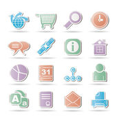 WebSite, Internet and navigation Icons — Stock Vector