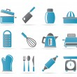 Royalty-Free Stock Vector Image: Kitchen and household Utensil Icons