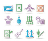 Hobby, Leisure and Holiday objects — Stock Vector