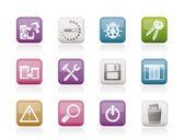 Icônes de développeur, de programmation et d'application — Vecteur