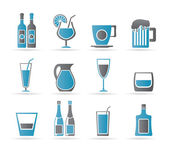 Different kind of drink icons — Stock Vector