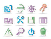Developer, programming and application icons — Stock Vector