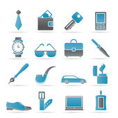Man Accessories icons and objects — Stock Vector