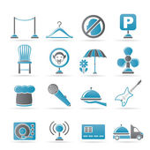Restaurant, cafe, bar and night club icons — Stock Vector