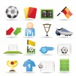 Football, soccer and sport icons — Stock Vector