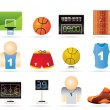 Basketball and sport icons — Stock Vector