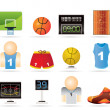 Basketball and sport icons — Stock Vector #5353341