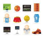 篮球和体育图标 — 图库矢量图片