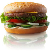 The big cheeseburger. A fast food. — Stock Photo