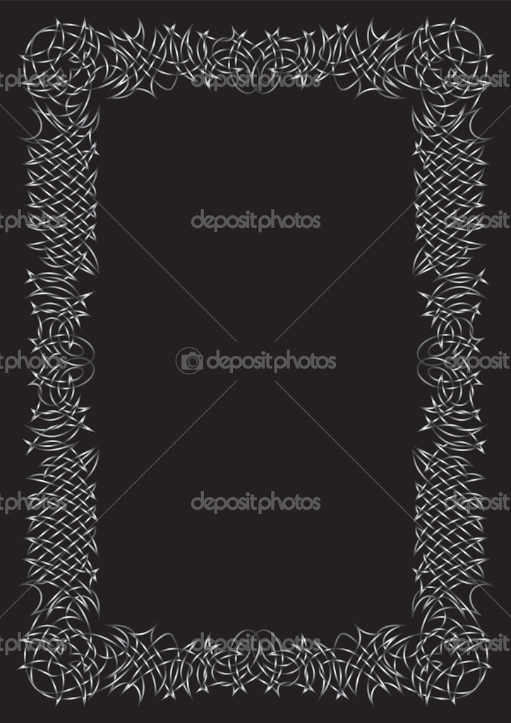 Vector Gothic frame — Stock Vector #4562617