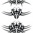 abstracte tatoeage tribal — Stockvector