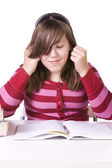 Young student studying for exams — Stock Photo