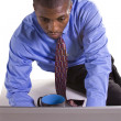 Black Businessman at His Desk Working — Stock Photo #4632827