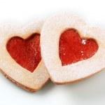 Heart shaped shortbread cookies — Stock Photo