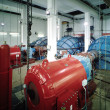 Stock Photo: Interior of hydroelectric plant