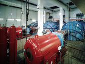 Interior of a hydroelectric plant — Stock Photo