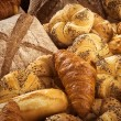 Variety of fresh bread and pastry — Stock Photo