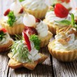 Variety of canapes — Stock Photo