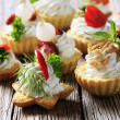 Variety of canapes — Stock Photo #4052291