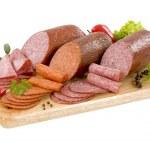 Dry salami — Stock Photo #4086097