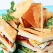 Club sandwiches and crisps — Stock Photo #4107127