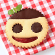 Jolly jam biscuit — Stock Photo