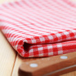 Checked tetowel — Stock Photo #4151110