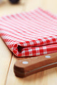 Checked tea towel — Stock Photo