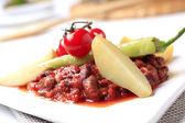 Vegetarian red bean chili — Stock Photo