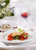 Wedding dinner - entree — Stock Photo