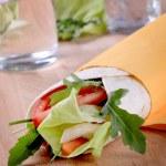 Wrap sandwich — Stock Photo