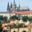 Charles Bridge and Prague Castle - Stock Photo