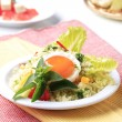 Couscous and fried egg - Foto Stock