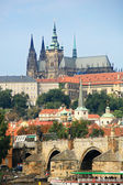Charles Bridge and Prague Castle — Stock Photo