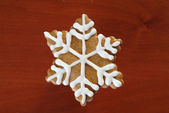 Gingerbread snowflake — Stock Photo