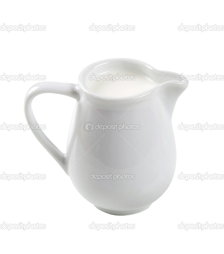 Jug of fresh milk isolated on white — Stock Photo #4191707